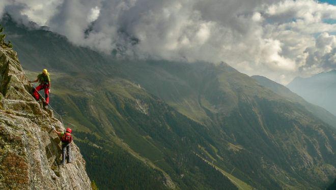 Foto: Klettersteig Fernau im Stubaital