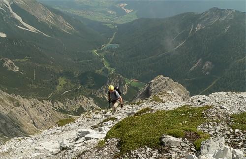 Schlicker Alm und See vom Schlicker Klettersteig
