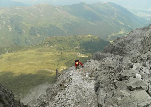Abstieg vom Schlicker Klettersteig