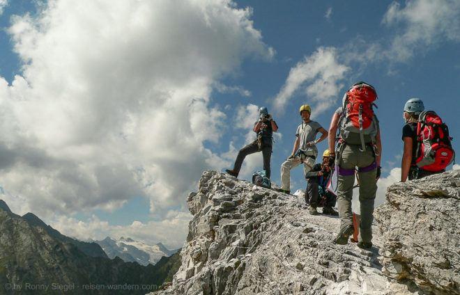 Foto: Elferkofel Nordwand Klettersteig im Stubaital