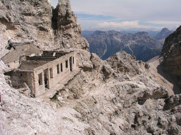 Kriegssteig in den Dolomiten