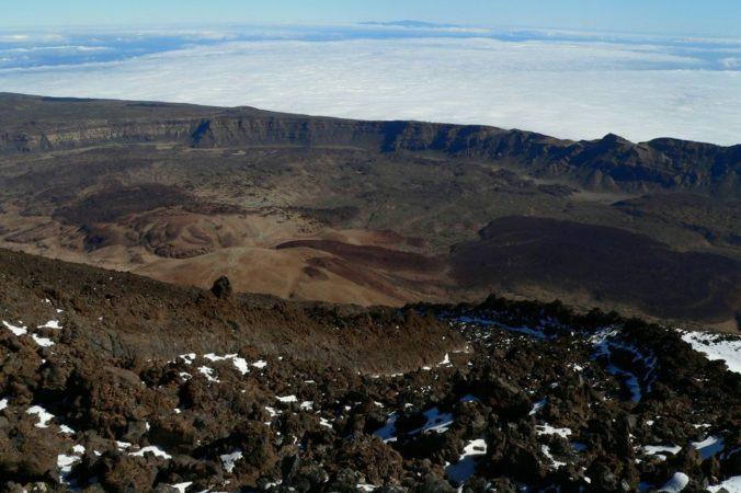Die Caldera, der Krater, des Pico del Teide