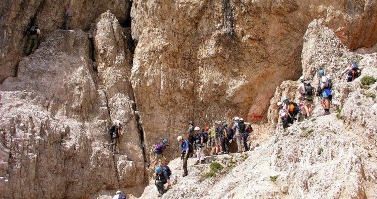 Einstieg zum Klettersteig am Paternkoffel