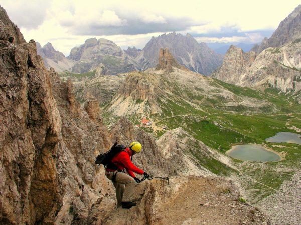 Abstieg vom Paternkofel zur Drei Zinnen Hütte