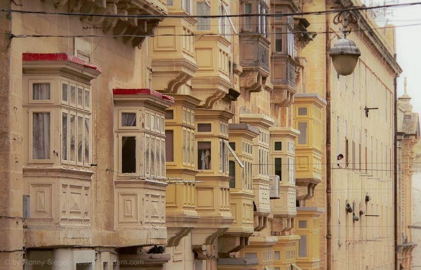 Balkone in Valletta auf Malta