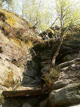 Oberer Teil der Rotkehlchenstiege