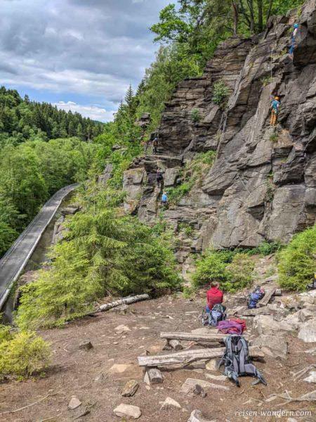 Plateau beim Klettergebiet in Wolkenstein