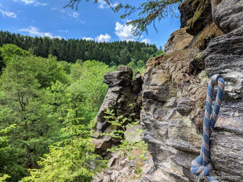 Klettergebiet mit Klettersteigen bei Wolkenstein