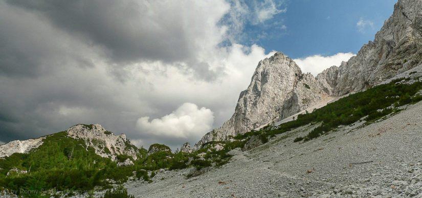 Felswand am ÖTK Steig in Kärnten