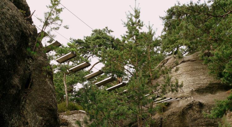 Die Hängebrücke am Nonnensteig