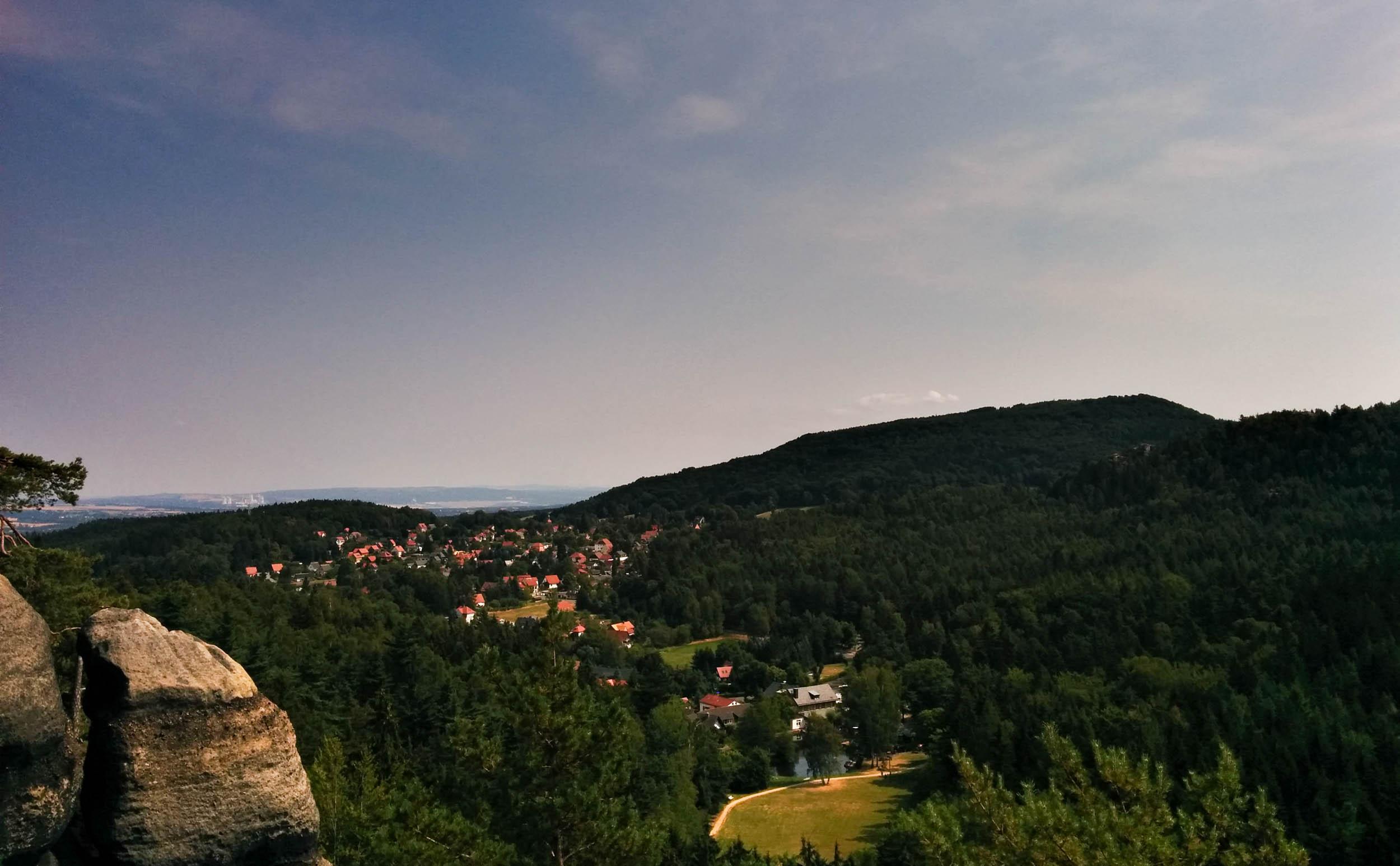 Blick auf Jonsdorf vom Nonnensteig