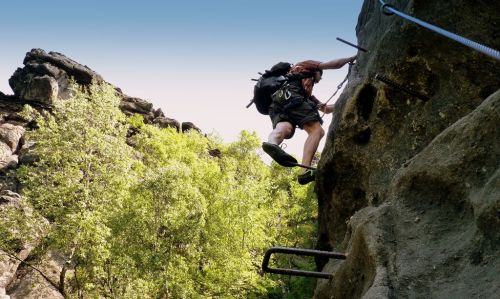 Klettersteig Jonsdorf : Klettersteig alpiner grat in oybin im zittauer gebirge