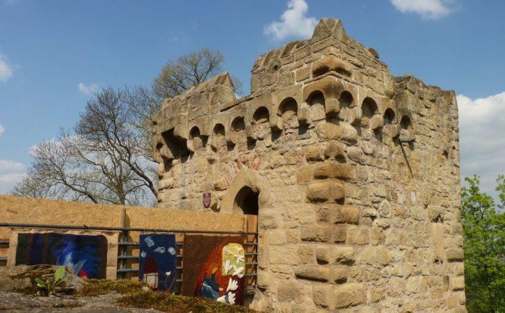 Wachturm beim zweitem Tor auf der Burg Steinsberg bei Sinsheim