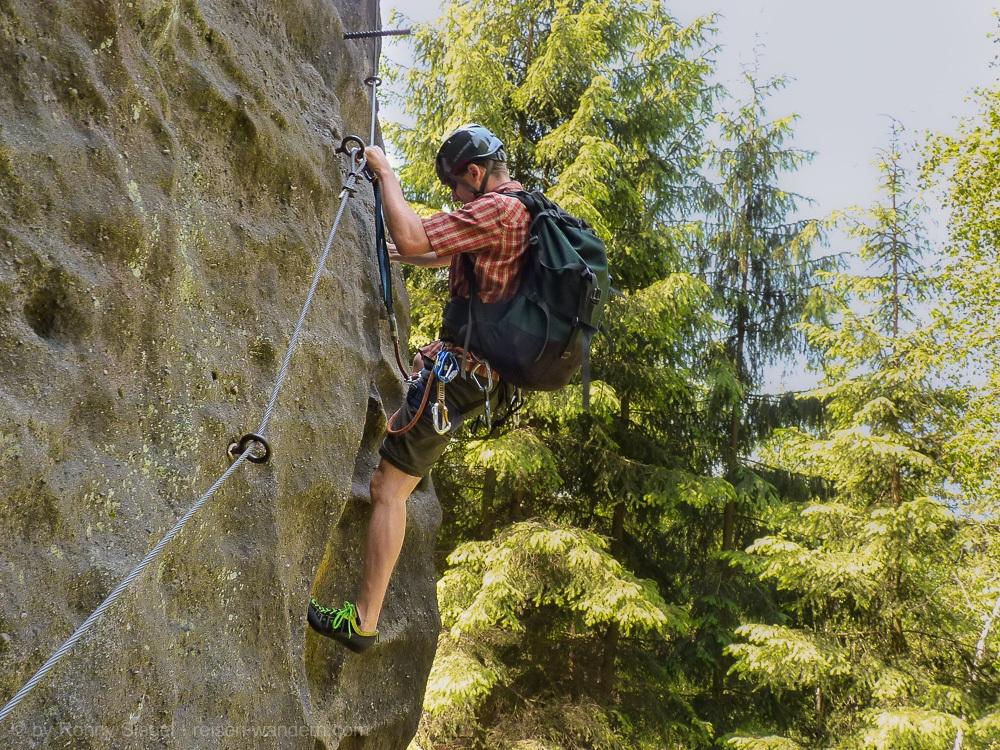 Klettersteig Zittauer Gebirge : Klettersteig alpiner grat in oybin im zittauer gebirge
