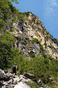 Die laengste Leiter des Klettersteiges