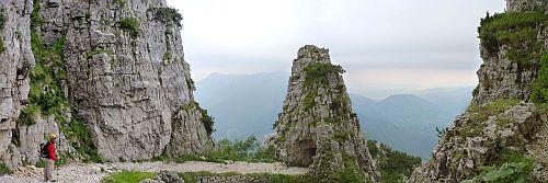Der Kriegsklettersteig Cinque Cime-ein Tunnel mit Wendelgang