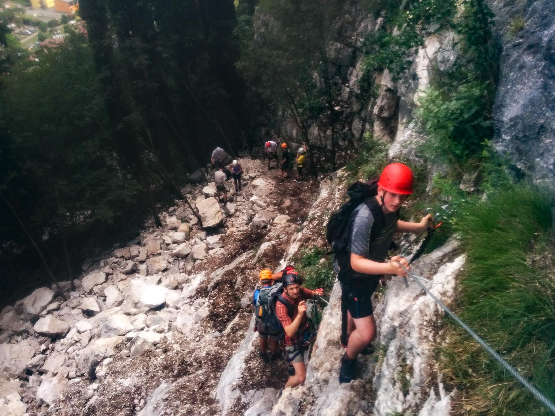 Einstieg am Klettersteig Sentiero attrezzato del Colodri