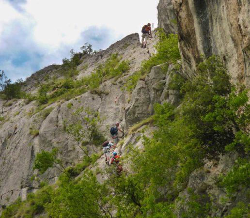 Ausstieg am Klettersteig Sentiero attrezzato del Colodri