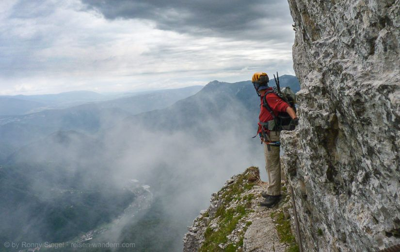 Klettersteig Italien : Klettersteig sasso piatto per la ferrata oscar shuster tour