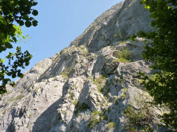 Erstes Teilstück am Kaiser Max Klettersteig