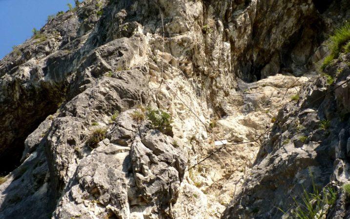 Notausstieg zur Grotte am Kaiser Max Klettersteig