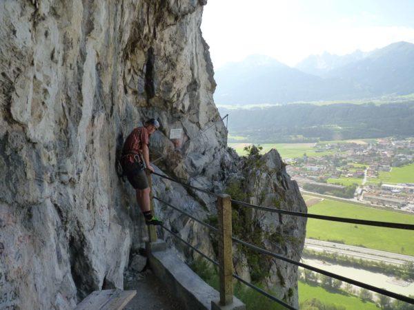 Erster Notausstieg an der Grotte am Kaiser Max Klettersteig