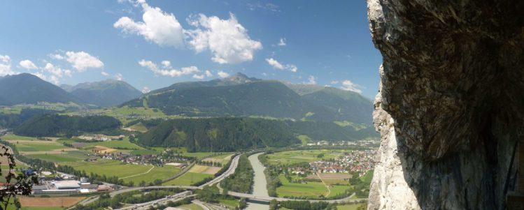 Panorama von Zirl von der Grotte vom Kaiser Max Klettersteig