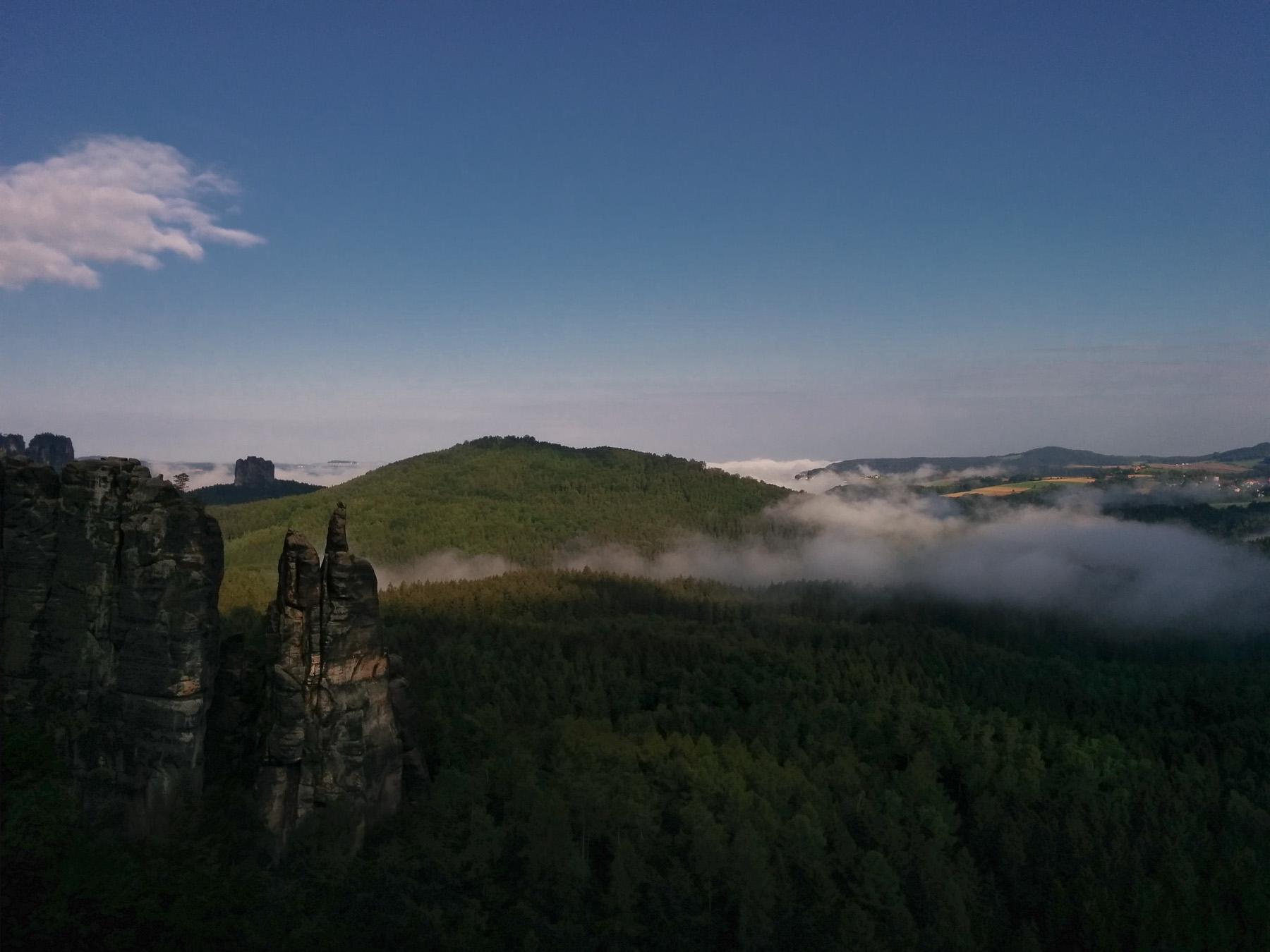 Blick in Sächische Schweiz