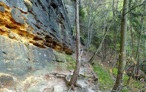 Letzten Meter bis zu den ersten Eisentritten der Rübezahlstiege