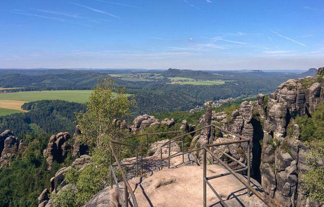 Schrammsteinaussicht in der Sächsischen Schweiz