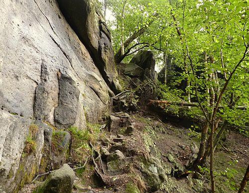 Starke Stiege Sächsische Schweiz - Mittelteil