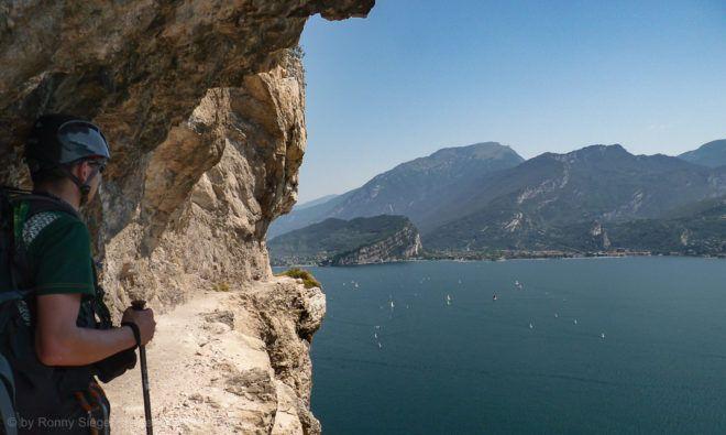Bergpfad Massimiliano Torti am Gardasee