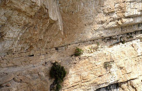 Größenunterschied Band zu Mensch auf dem Klettersteig Gerardo Sega