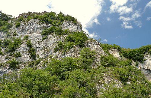 Felswand mit Klettersteig Gerardo Sega am Gardasee