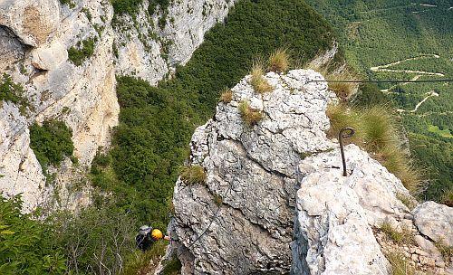 Austieg am Klettersteig Gerardo Sega