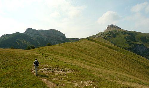Zustieg zum Dos d'Abramo zum Klettersteig Giulio Segata