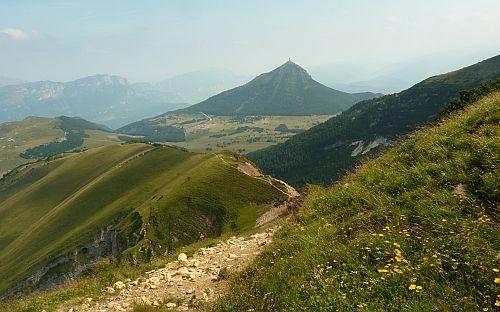 Weg Zustieg und Abstieg zum Dos d'Abramo
