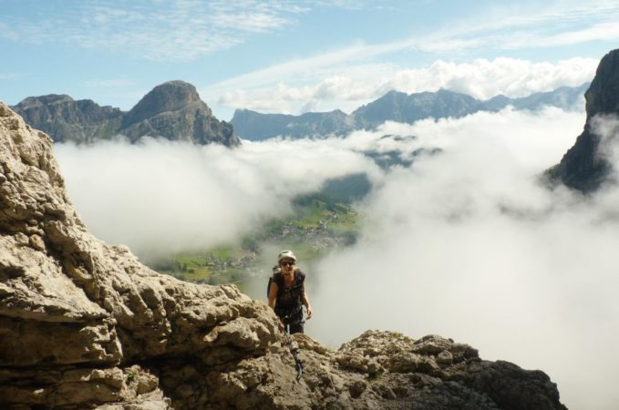 Klettersteig Pisciadu : Pisciadu klettersteig fv brigada tridentina