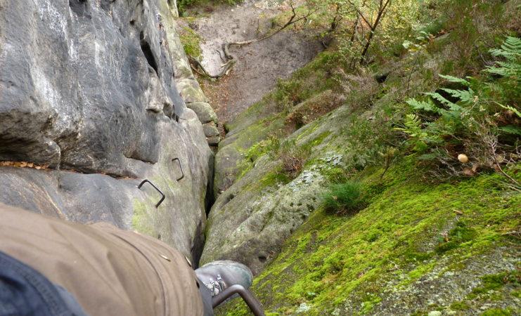Klettersteig Sächsische Schweiz : Wirtsstiege am pfaffenstein in der sächsischen schweiz