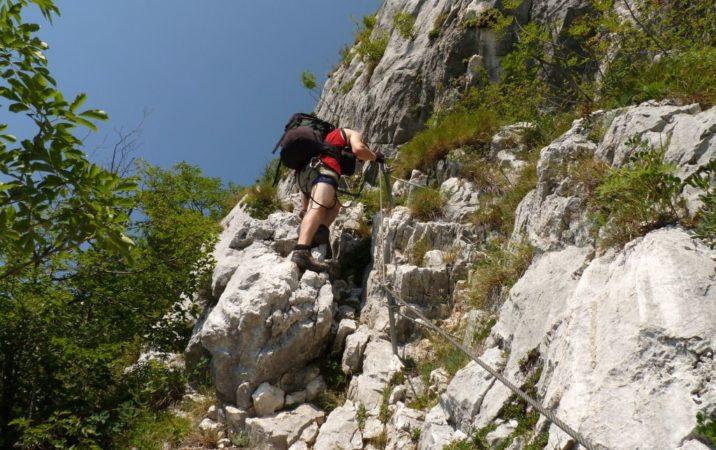 Kletterer am Klettersteig Mario Foletti