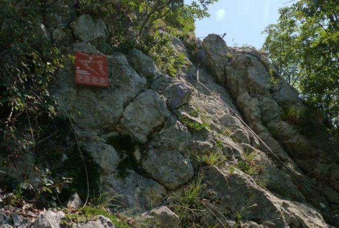 Klettersteigtafel des Mario Foletti Klettersteig