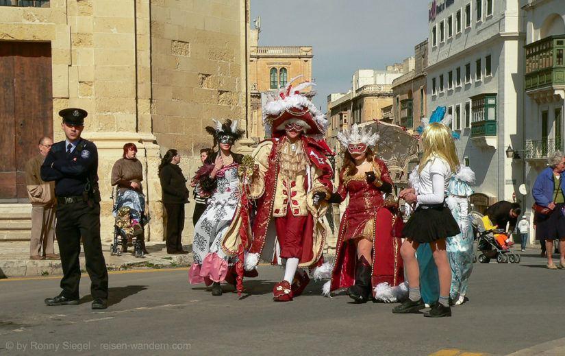 Karneval in Valletta auf Malta