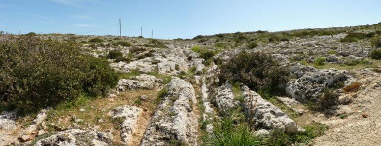 Gerade Schleifspuren, Cart Ruts, auf Malta