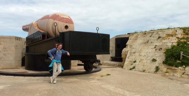 Das größte Gewehr - die Kanone im Fort Rinella
