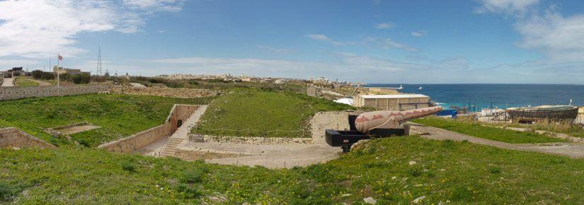Kanone im Fort Rinella
