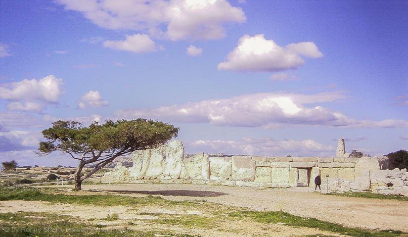 Hagar Qim Tempel auf Malta von 2005