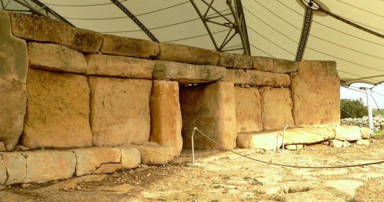 Haupteingang des Hagar Qim Tempel