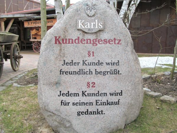 Karls Erlebnis-Dorf Kundengesetze