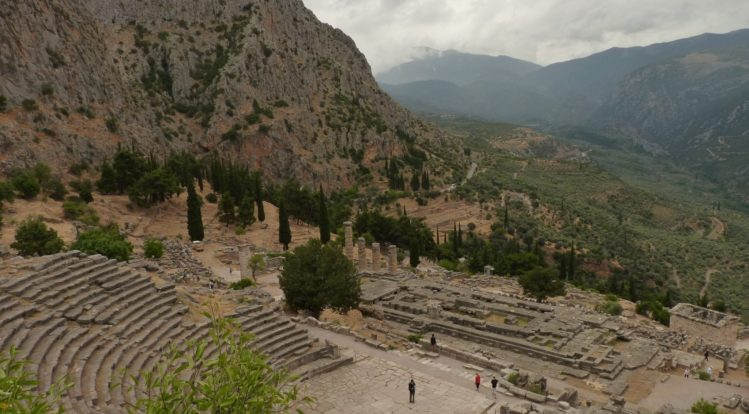 Antikes Theater beim Delphi Orakel