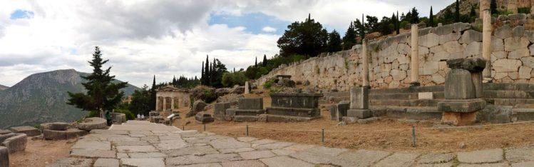 Heilige Straße beim Orakel von Delphi